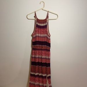 Printed Maxi Dress with Slit